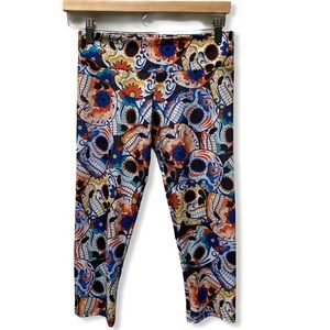 Onzie Day of the Dead Skull Capri -S/M